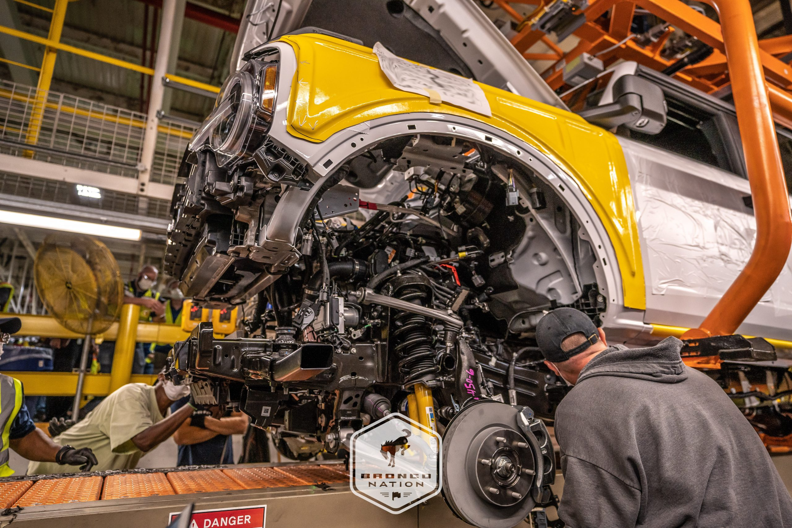 EARLY PRE-PRODUCTION BRONCOS COMPLETE PRODUCTION, ROLL OFF MAP ASSEMBLY LINE: