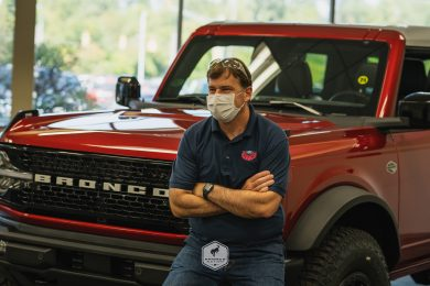 Jim Farley with 2021 Bronco