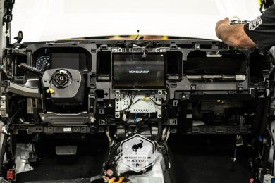 assembly shot of the ford bronco dashboard