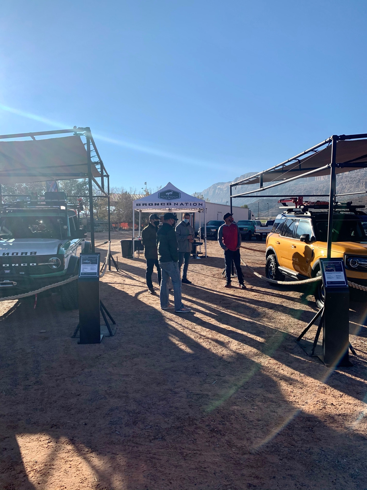 Gearing up early for the Moab 4x4 expo at the show tents