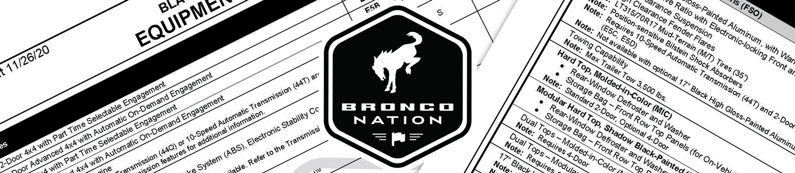 Finalized Trim Options to Build Your 2021 Bronco