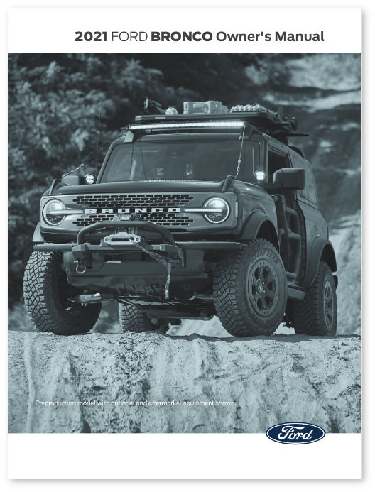 2021 Ford Bronco Owner's Manual