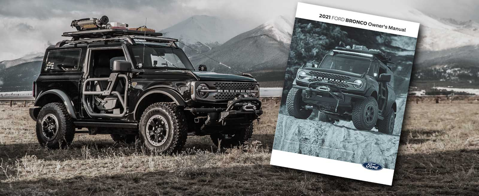 2021 Ford Bronco Owner's Manual Downloadable PDF