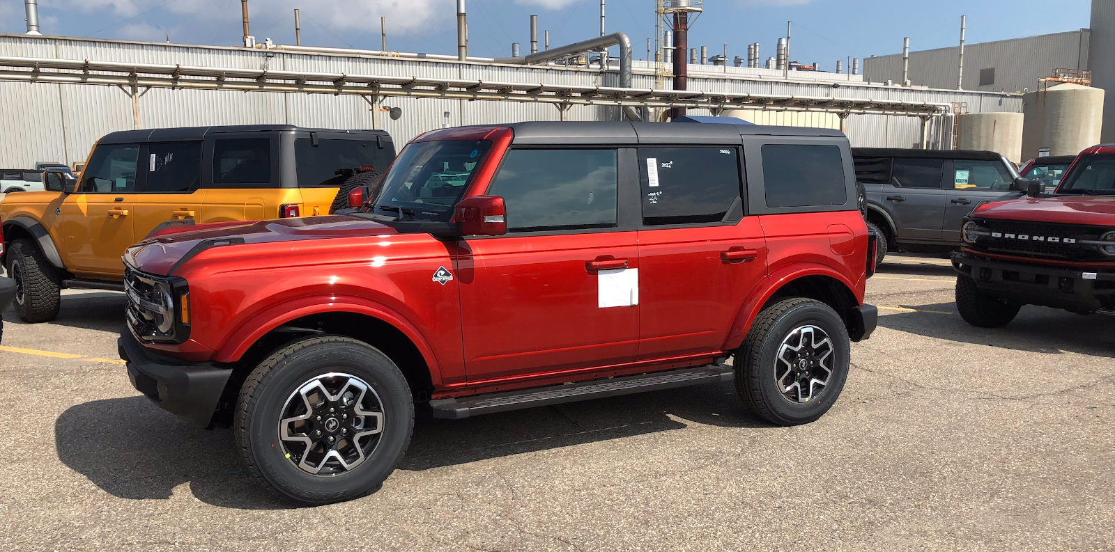 First Look on a Bronco: Hot Pepper Red