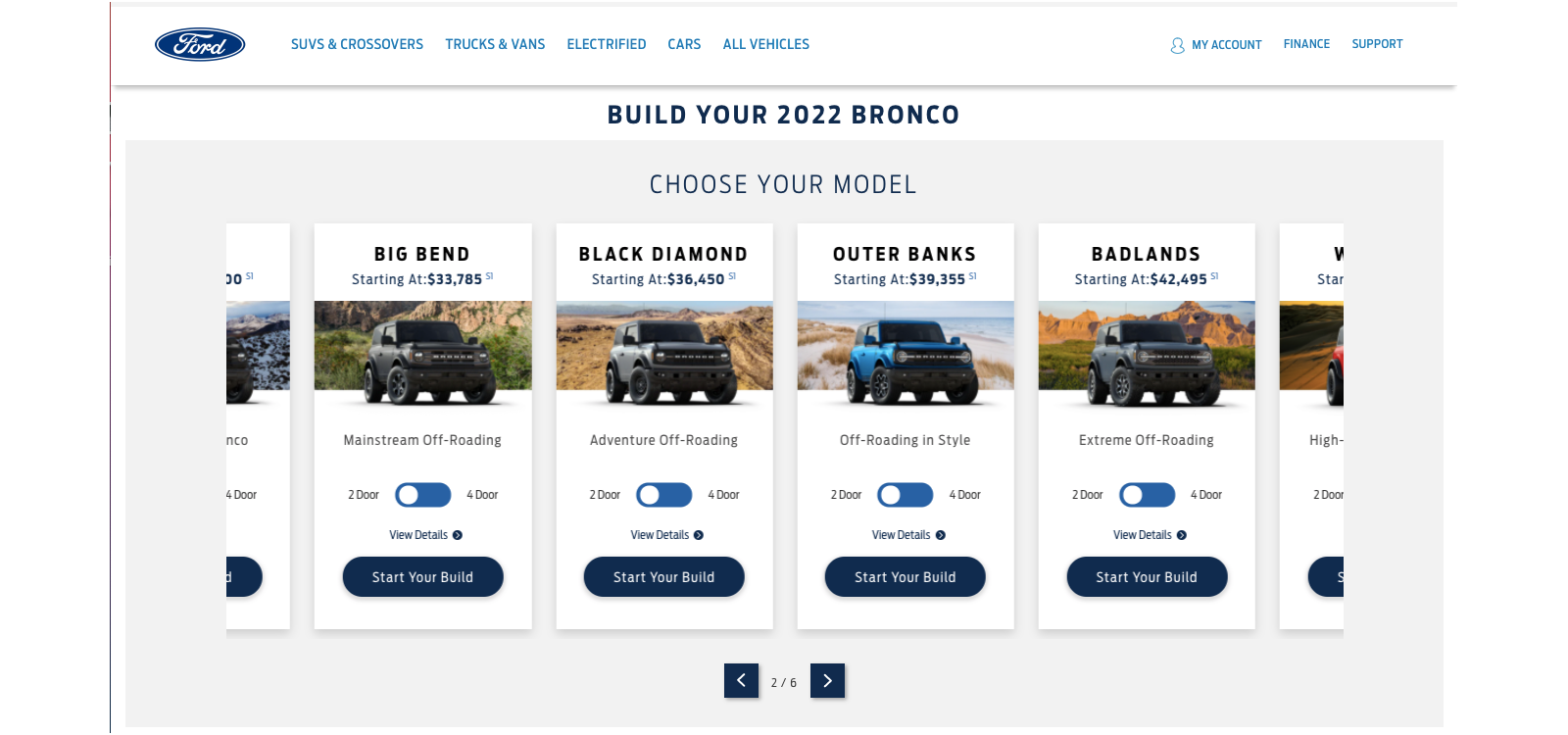 Bronco Build & Price Updated for MY22
